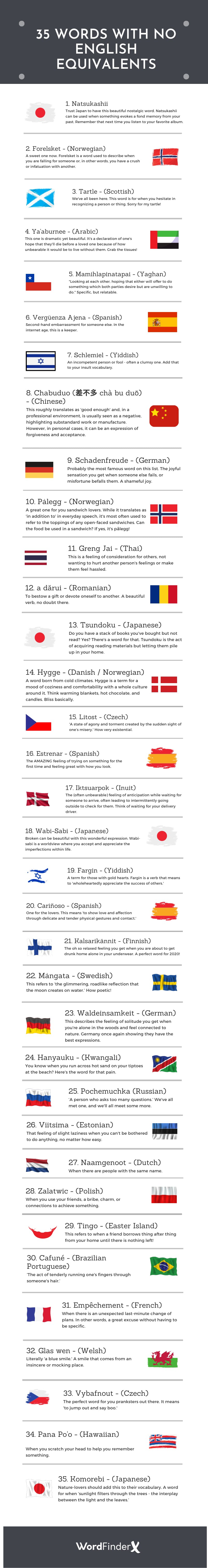 words that can't be translated into English - infographic